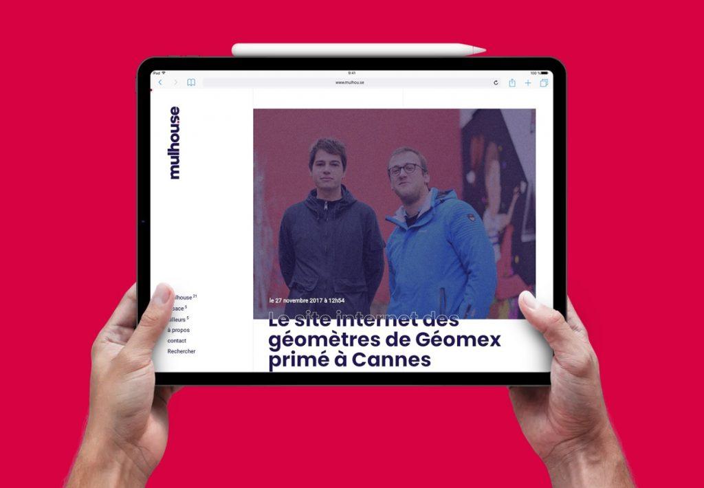 Guillaume Kling et Julien Di Giusto sur le site internet dédié à Mulhouse